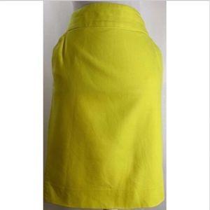 J Crew womens skirt size 10 the pencil yellow work
